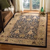 Safavieh Handmade Mahal Blue/ Gold New Zealand Wool Rug - 4' x 6'