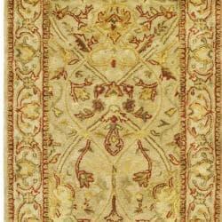 Safavieh Handmade Mahal Light Brown/ Beige N.Z. Wool Rug (2'6 x 16') - Thumbnail 1