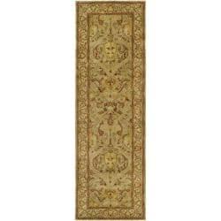 Safavieh Handmade Mahal Light Brown/ Beige N.Z. Wool Rug (2'6 x 16')