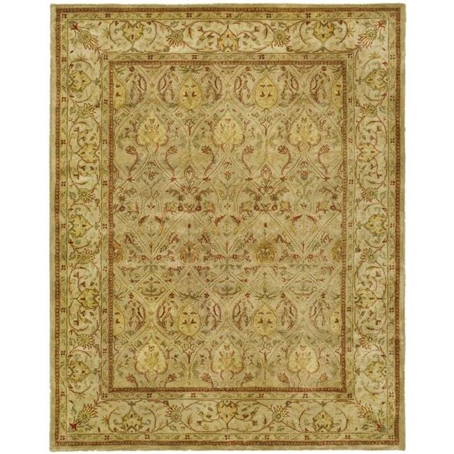 Safavieh Handmade Mahal Light Brown/ Beige N.Z. Wool Rug (12' x 15')