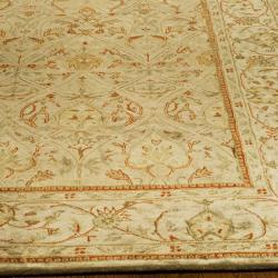 Safavieh Handmade Mahal Light Brown/ Beige N.Z. Wool Rug (12' x 15') - Thumbnail 1