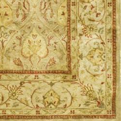 Safavieh Handmade Mahal Light Brown/ Beige N.Z. Wool Rug (12' x 15') - Thumbnail 2