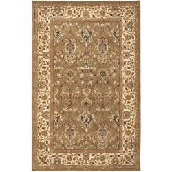 Safavieh Handmade Mahal Green/ Beige New Zealand Wool Rug (4' x 6')