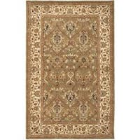 Safavieh Handmade Mahal Green/ Beige New Zealand Wool Rug - 4' x 6'