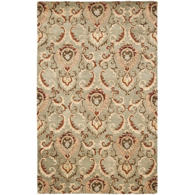 Safavieh Handmade New Zealand Wool Oasis Grey Rug - 7'6 x 9'6
