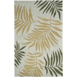 Safavieh Handmade New Zealand Wool Ferns Light Blue Rug - 7'6 x 9'6 - Thumbnail 0
