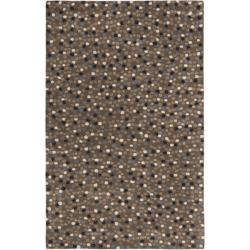 Safavieh Handmade Sprinkles Dark Grey New Zealand Wool Rug (3'6 x 5'6')