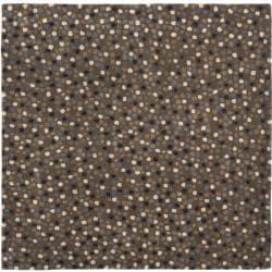 Safavieh Handmade Sprinkles Dark Grey New Zealand Wool Rug (6' Square)