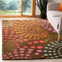 "Safavieh Handmade Cosmos Brown New Zealand Wool Rug - 7'-6"" x 9'-6"""