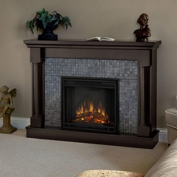 Real Flame Bennett Dark Walnut Electric Fireplace