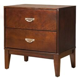 Furniture of America Ridge Brown Cherry 2-Drawer Nightstand