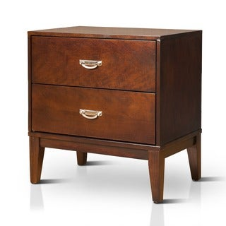 Furniture of America Ridge Brown Cherry 2-Drawer Nightstand