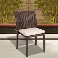 Oliver & James Delaunay Wicker Stacking Chair (Set of 4)