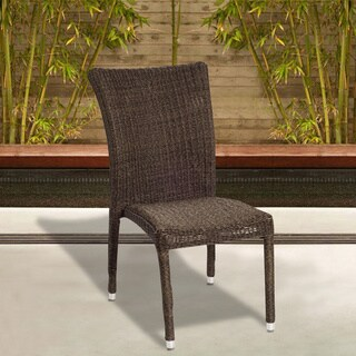 Catania Wicker Stacking Chair Set of 4