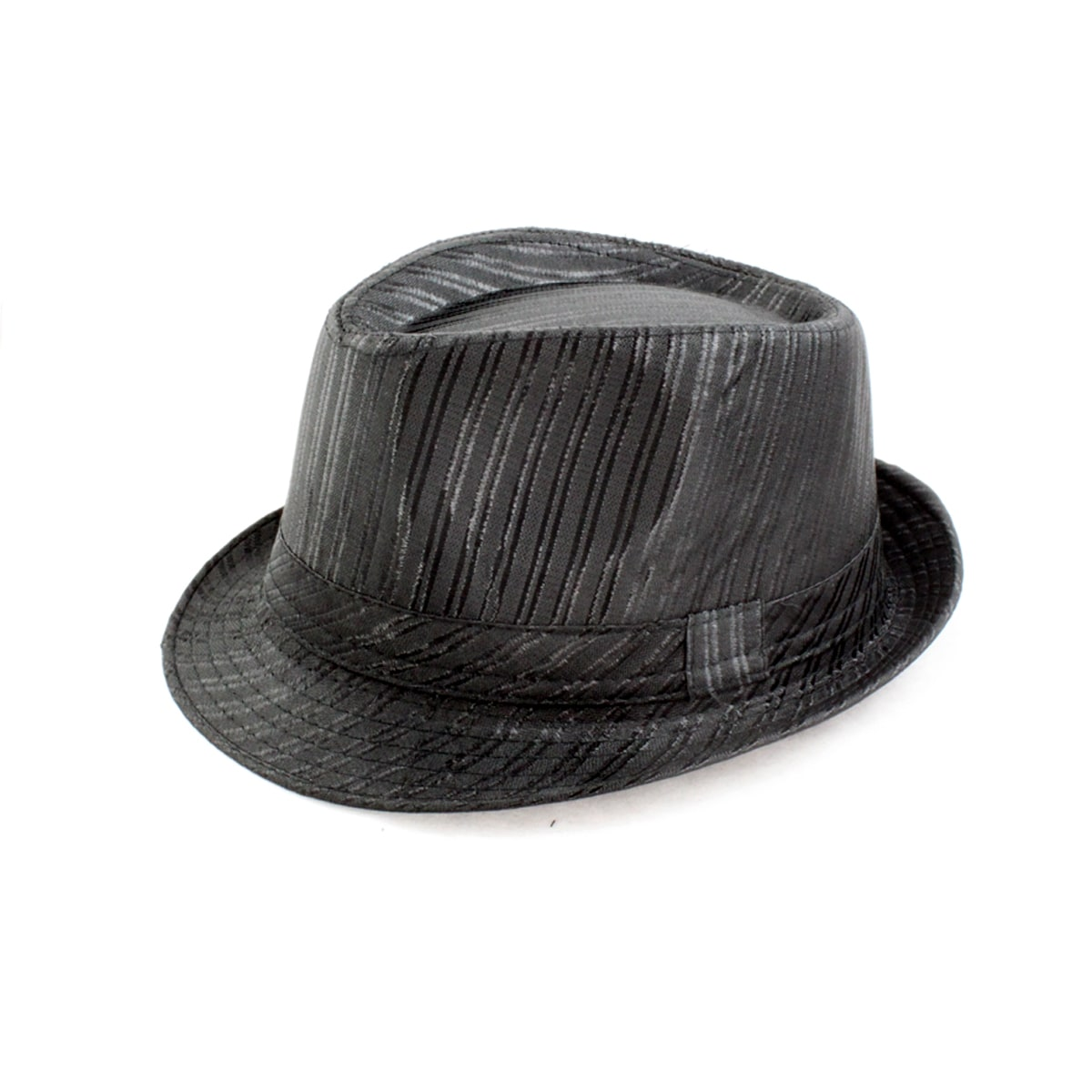 Faddism Textured Black Fedora Hat