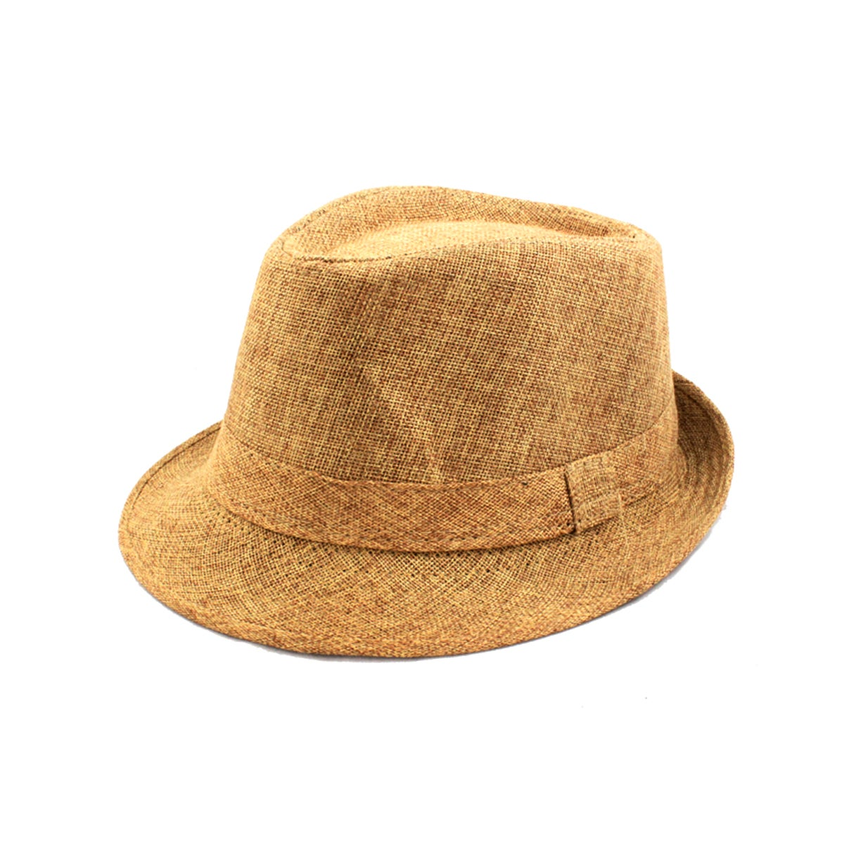 Faddism Beige Stripe Fedora Hat