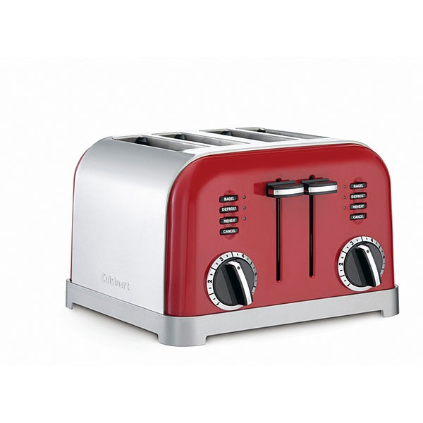 Cuisinart CPT 180MR Metallic Red Classic Metal 4 Slice Toaster