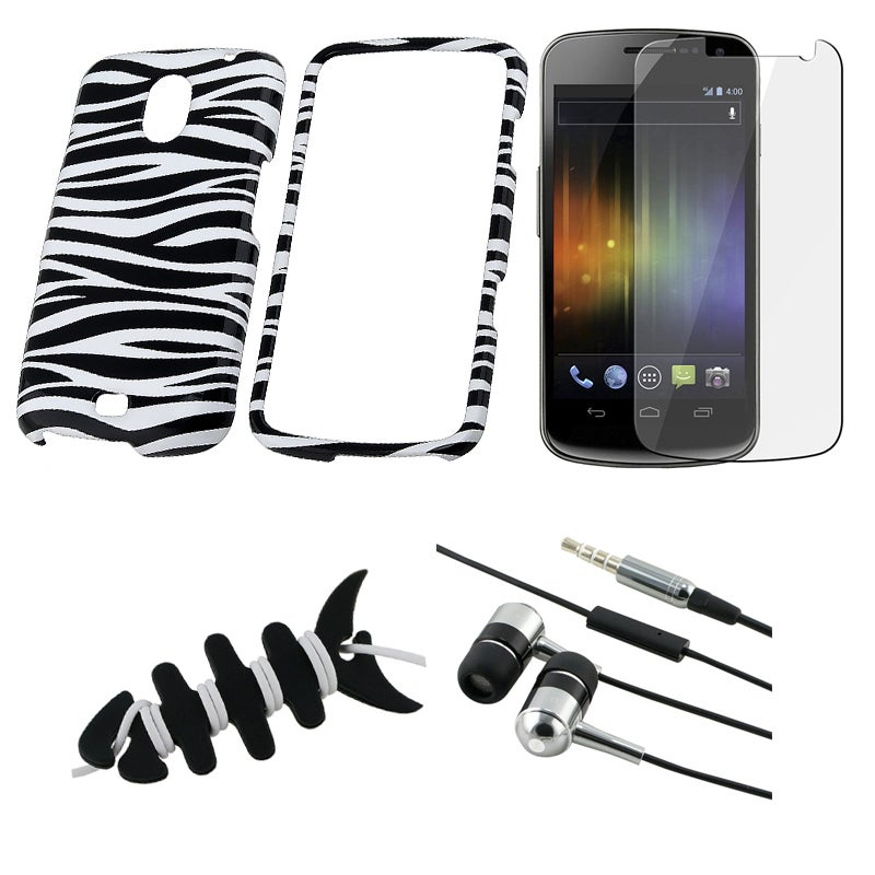 Zebra Case/ LCD Protector/ Headset/ Wrap for Samsung Exhibit i515