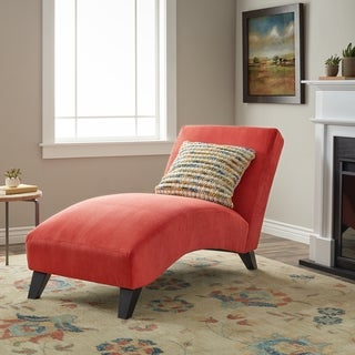 Clay Alder Home Bella Orange-Paprika Chaise Lounge