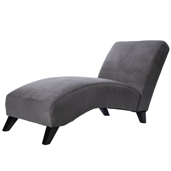 Bella Charcoal Grey Chaise