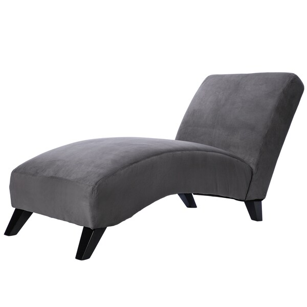 Bella Charcoal Grey Chaise Free Shipping Today