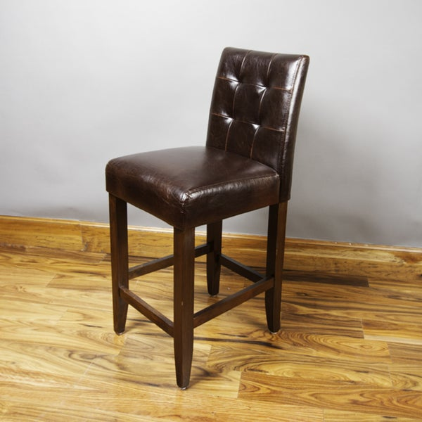 Manhattan Faux Leather Counter Stool (Set of 2)