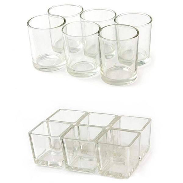 Glass Votive Candle Holders (Case of 12)