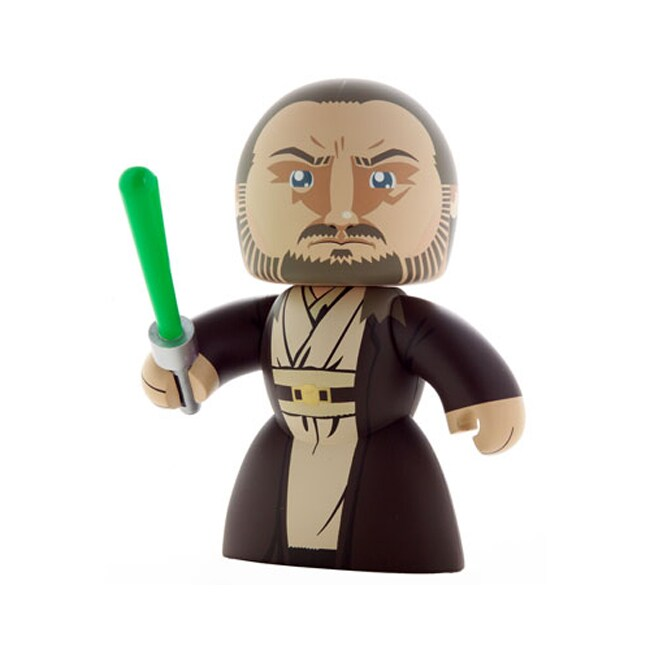 Star Wars Mighty Muggs Qui-gon Jinn Playset