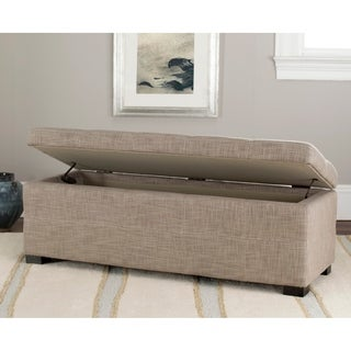 Safavieh Madison Grey Linen Storage Bench