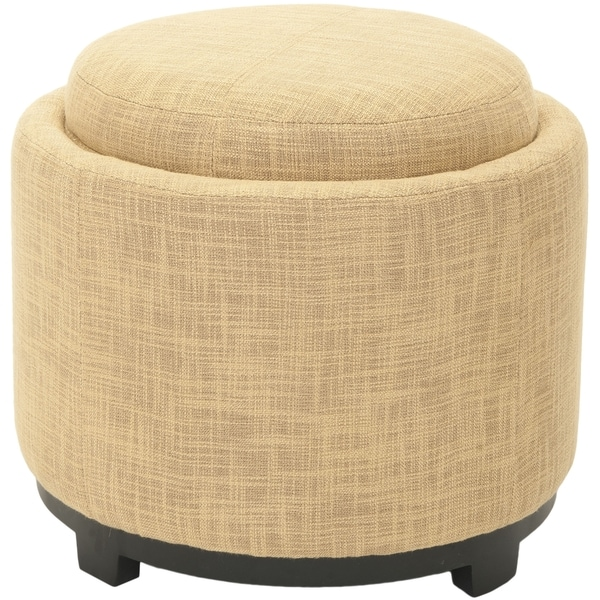 Ottomans Lifestyle Single Ottoman: Shop Safavieh Broadway Single Tray Gold Viscose Storage