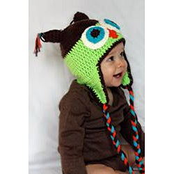 Knitnut by JL Handmade Child's Cotton Crocheted Owl Hat