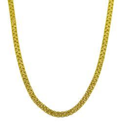 Fremada Gold over Silver 18-inch 3.5-mm Bismark Chain