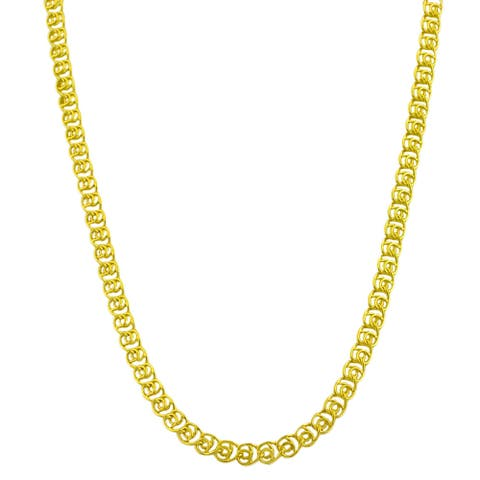 Fremada Gold over Silver 18-inch 4.2-mm Love Chain