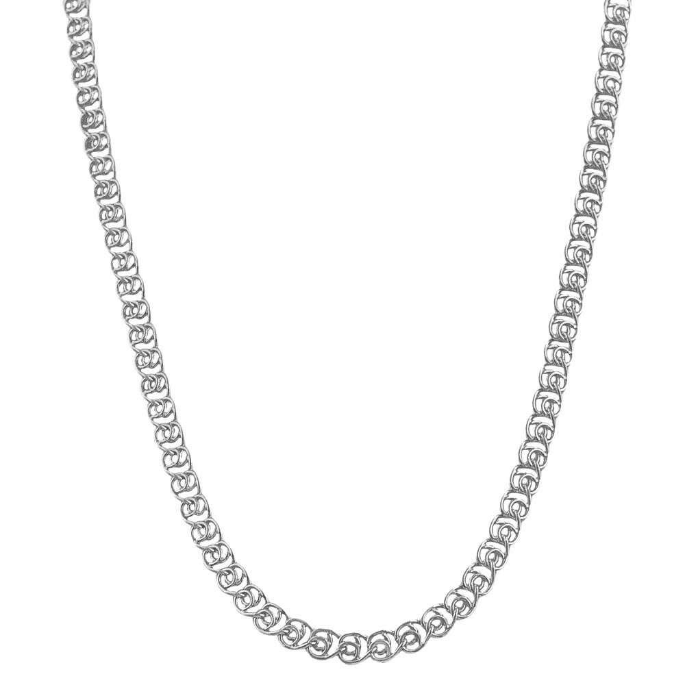 Fremada Rhodiumplated Silver 16-inch 4.2-mm Love Chain