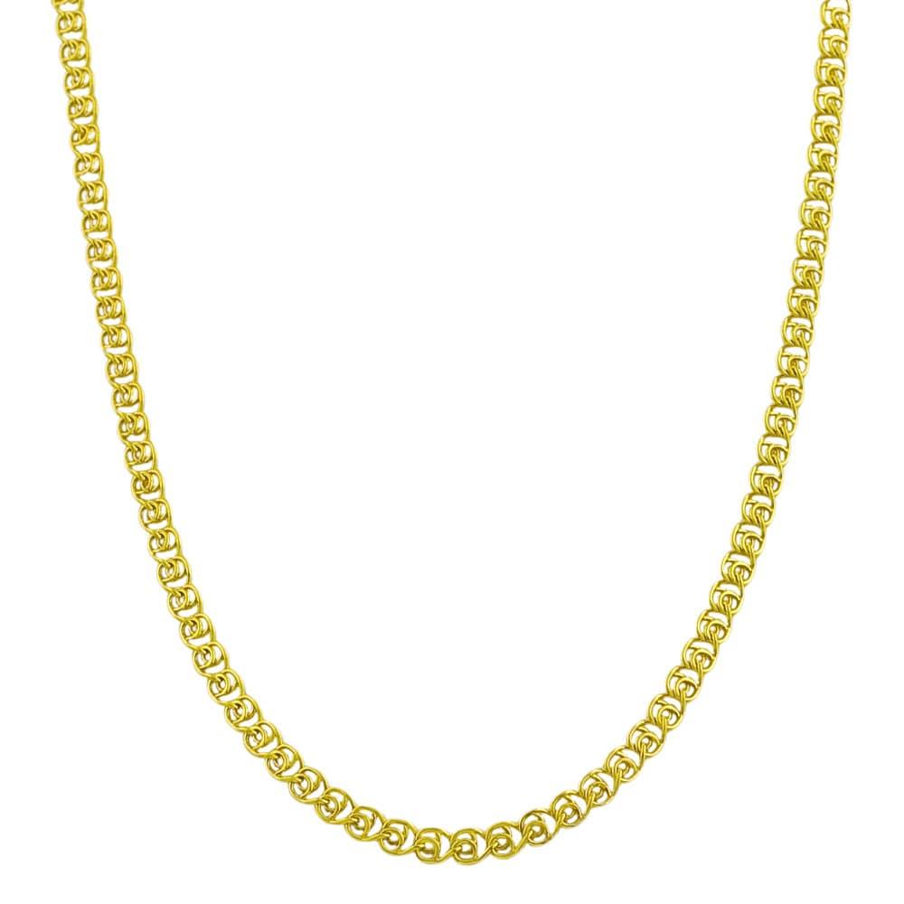 Fremada Gold over Silver 18-inch 2.7-mm Love Chain