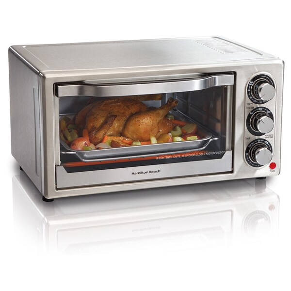 Hamilton Beach Stainless Steel 6-slice Broiler Toaster Oven