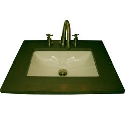 Fine Fixtures Ceramic 20-inch Undermount Biscuit Bathroom Sink