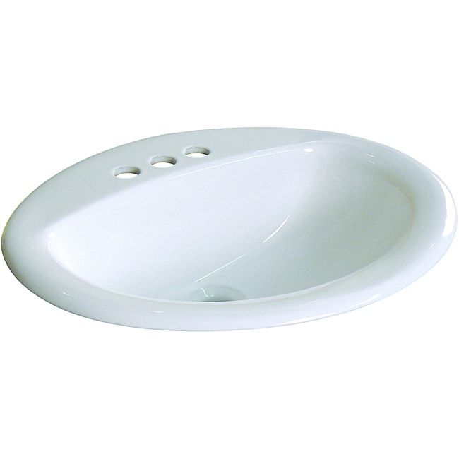 Fine Fixtures Ceramic 20.5-inch Drop-in Self Rimming Bathroom Sink