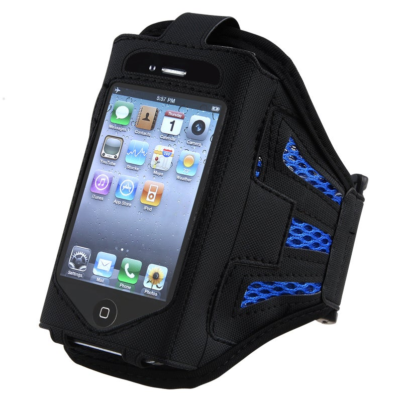 INSTEN Black/ Dark Blue SportBand for Apple iPod Touch 2nd/ 3rd Generation