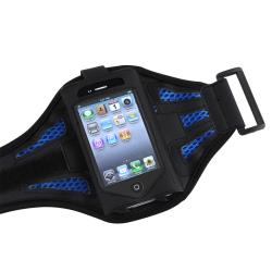 INSTEN Black/ Dark Blue SportBand for Apple iPod Touch 2nd/ 3rd Generation - Thumbnail 1