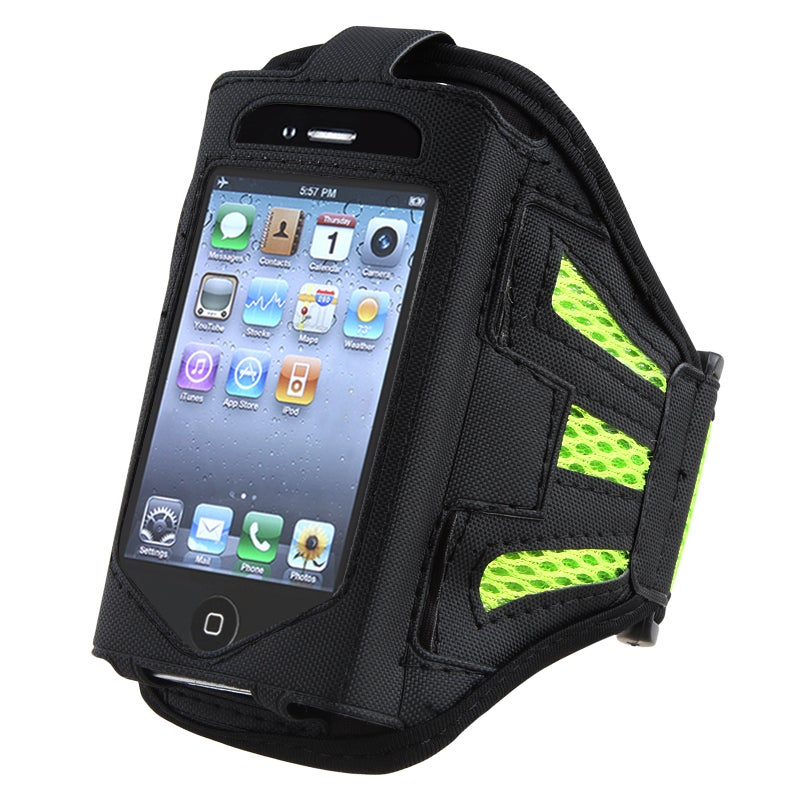 INSTEN Black/ Green SportBand for Apple iPod Touch 2nd/ 3rd Generation
