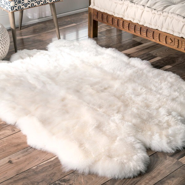 nuLOOM Alexa Sexto Sheepskin Wool Six Pelt Shag Rug