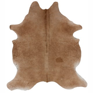 nuLOOM Hand-picked Brazilian Solid Natural Cowhide Rug (5' x 7')