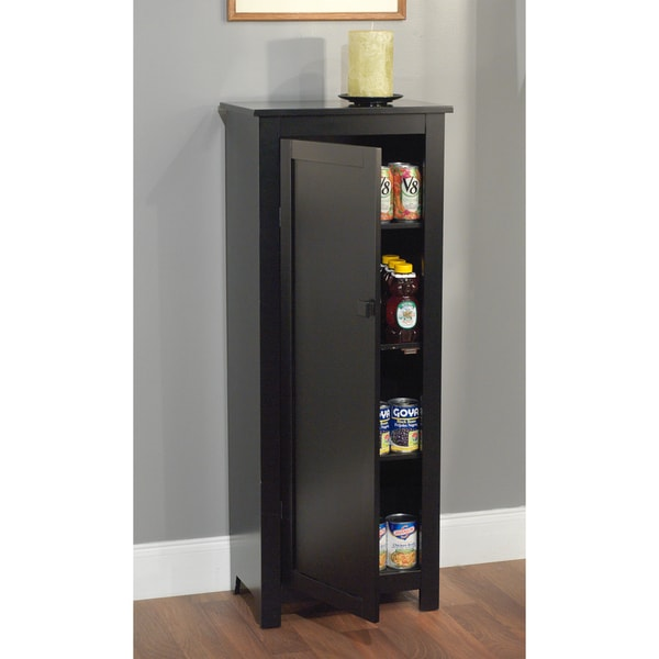Simple Living Black 46 Inch Tall Wood Food Storing Pantry