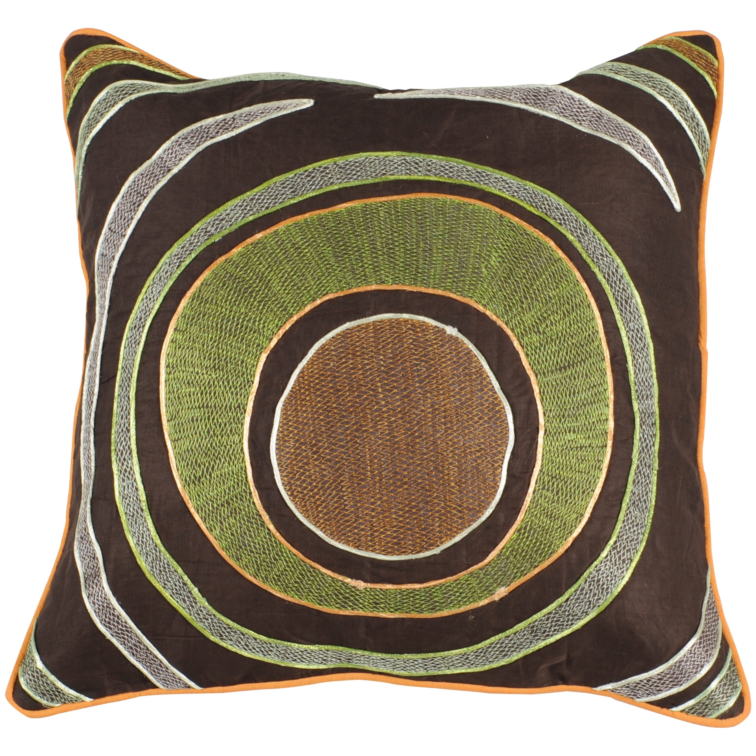 Kenny Brown Modern 18-inch Square Down Decorative Pillow