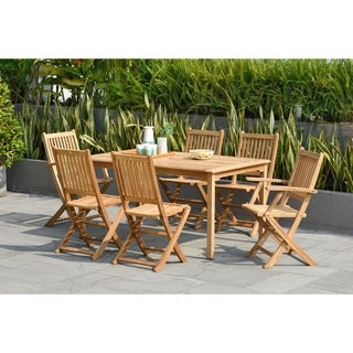 Amazonia Augusta Teak 7-piece Rectangular Dining Set