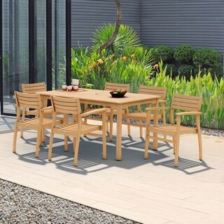 Amazonia Teak Savannah 7-piece Teak Dining Set