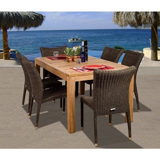Amazonia Teak Hamilto 7 piece Patio Dining Set