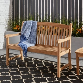 Link to Tottenville 4-foot Teak Bench by Havenside Home Similar Items in Patio Furniture