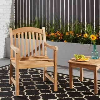 Amazonia Teak Hartford Teak Armchairs (Set of 2)